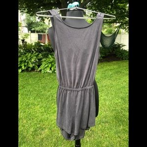UO Silence + Noise blue gray romper/jumpsuit